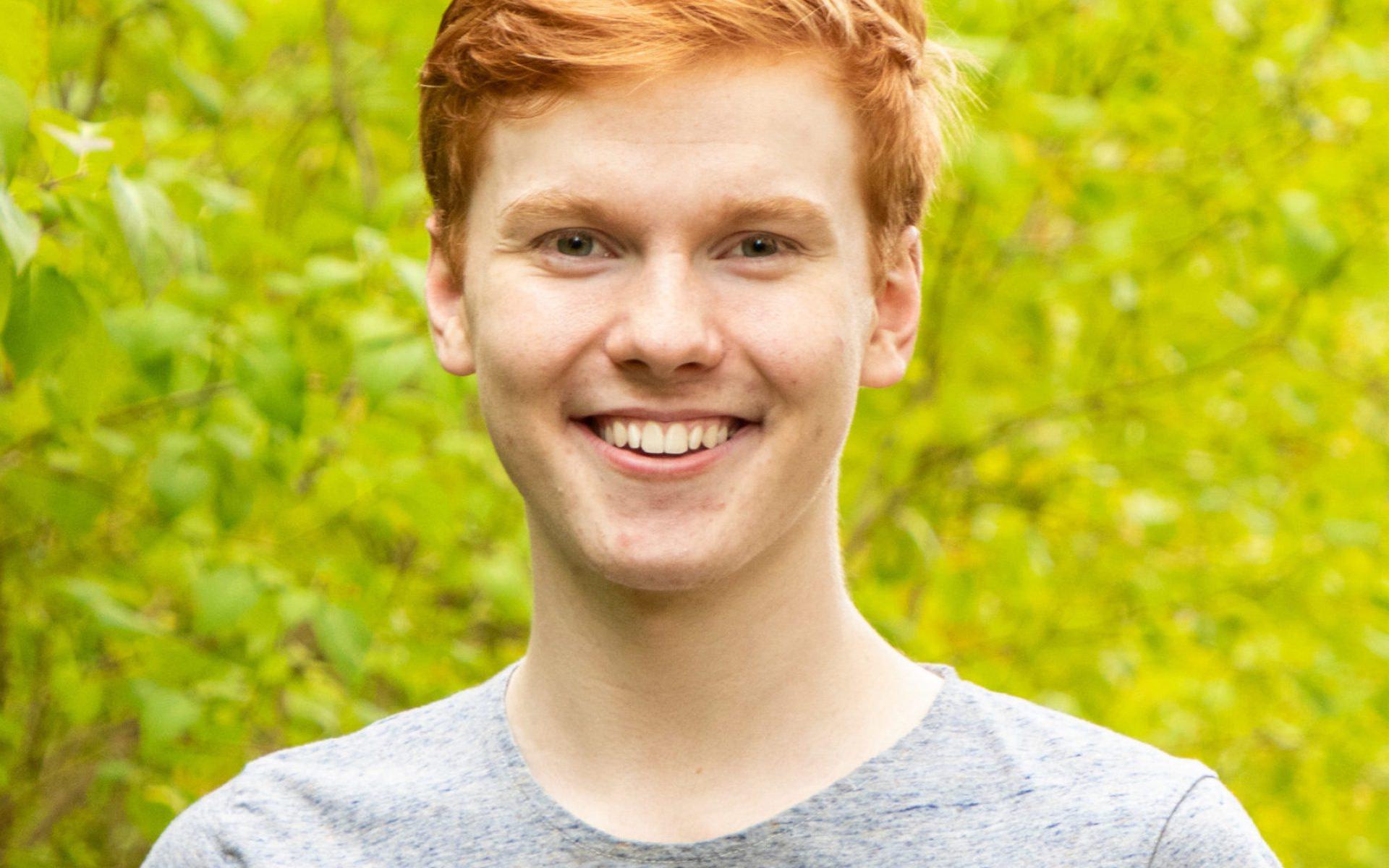 Porträtt på Simon Tarakkamäki.